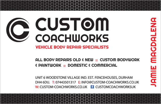 Custom Coachworks business card