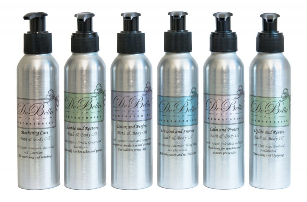 De Bella Body Oil range