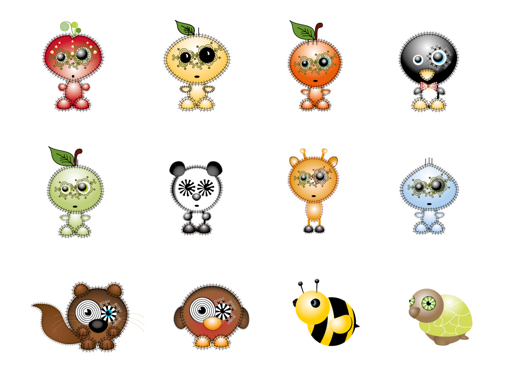 Fruitinis characters
