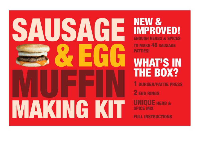 Breakfast muffin making kit label
