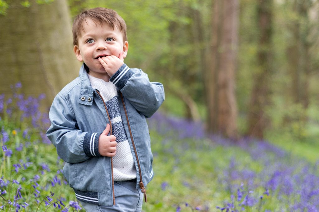 boy in bluebells