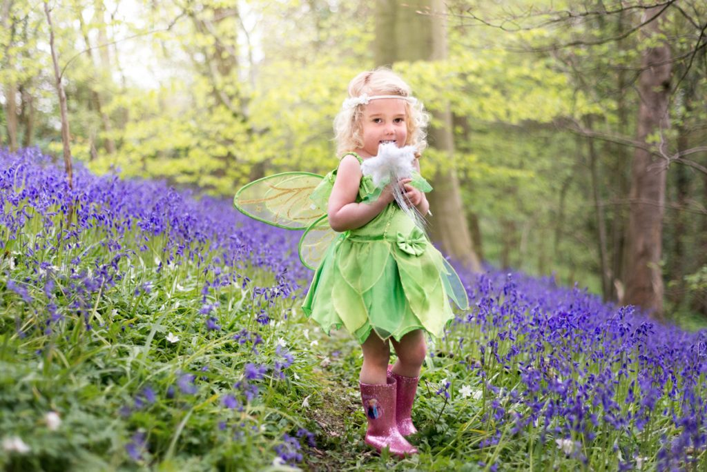 girl in bluebells