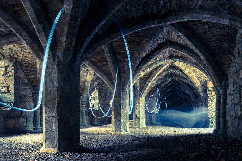 ghostly undercroft at priory