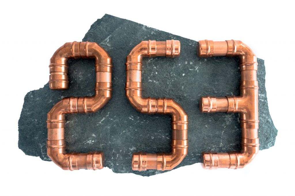 Copper pipe house number
